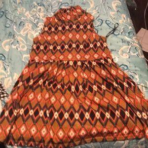 Patterned turtleneck dress!